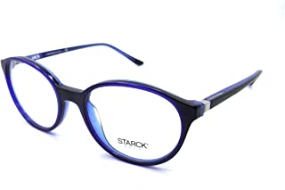 Starck Eyes Mikli Rx Eyeglasses Frames SH3027 0007 52x18 Matte Blue / Black