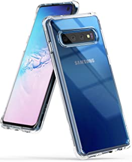 """Ringke Fusion Designed for Galaxy S10 (6.1"""") Crystal Clear PC Back Case Anti-Cling Dot Matrix Technology Lightweight Transparent TPU Bumper Drop Protective Phone Cover for Galaxy S10 - Clear"""