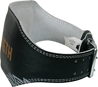 """Tigon Sports Leather Weight Lifting Belt 6"""" Back Support Strap Gym Power Training Fitness"""