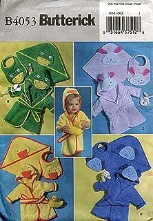 Butterick Pattern B4053 Infants' Robe, Towel and Bib (Frog, Rabbit, Duck, Dog)