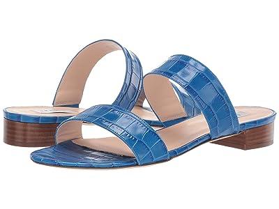 L.K. Bennett Eveleen Duel Strap Sandal (Mediterranean Blue) Women