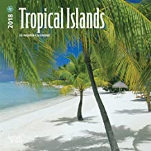 Tropical Islands 2018 7 x 7 Inch Monthly Mini Wall Calendar, Scenic Travel Tropical Photography (English, French and Spanish Edition)
