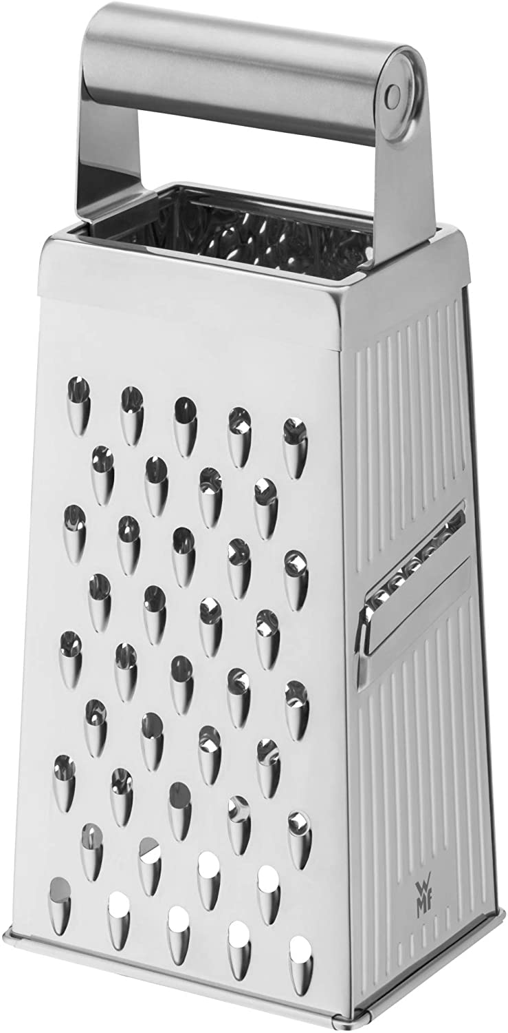 WMF Gourmet square grater, 10.5 x 8 x 24 cm, stainless steel grater, 4  grating surfaces, ideal as a potato grater, vegetable slicer, Cromargan,  dishwasher-safe : Amazon.co.uk: Home & Kitchen