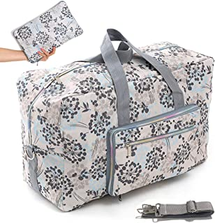"22"" Foldable Large Travel Duffel Duffle Bag Overnight Carryon Weekend Bag Shoulder Bag Water Rresistant 8 Color Choices"