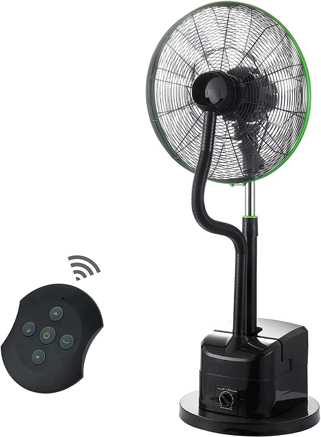 Free shipping anywhere in the nation Simple Deluxe 18 Inch Misting Adjustable Oscillating Seasonal Wrap Introduction fan height
