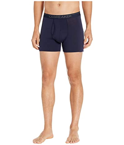 Icebreaker Anatomica Merino Boxers w/ Fly (Midnight Navy) Men