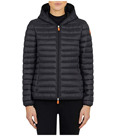 Save the Duck Giga Hooded Jacket (Black) Women