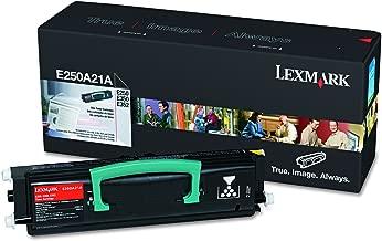 Lexmark E250A21A Toner, 3500 Page-Yield, Black