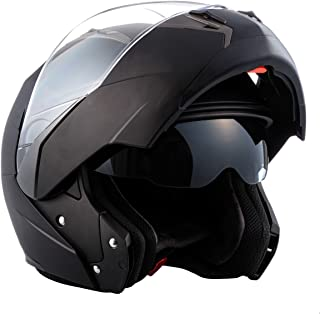 Opaco Nero Soxon SF-99 Casco da Motocicletta Modulare 53-54cm ECE certificato XS