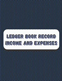 "Ledger book record income and expenses: Cash Book 120 blank pages | White Paper | Perfect Binding | large | 8.5"" x 11"" 