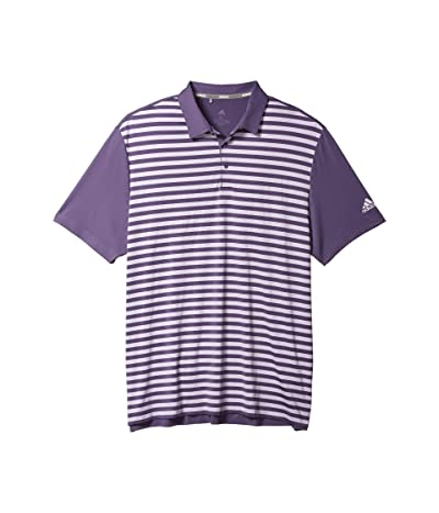 adidas Golf Ultimate365 Wide Stripe Polo Shirt (Tech Purple/Purple Tint) Men