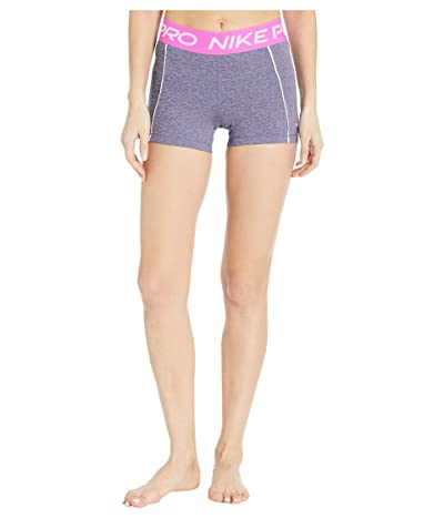 Nike Pro Shorts 3 Space Dye (Cerulean/Fire Pink/Black/White) Women