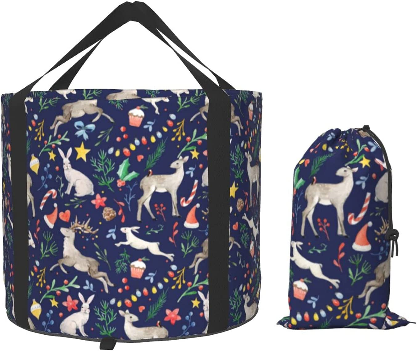 Weekly update Multifunctional Portable Collapsible Quantity limited Bucket Bunn Watercolor Deer