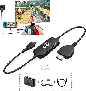 Switch ドック「Nintendo Switch Dockの代替品」軽量化 HDMI変換/TVモード/テーブルモード 初心者向け Type-C USBポート3.1 CNSL 小型 アダプター ドック 旅行の必需品 CNSL ケーブル