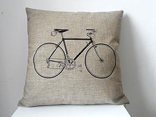 Fahrrad Kissenbezug Kissenhülle 45x45 Kissen Hülle Leinen Kopfkissen Dekokissen