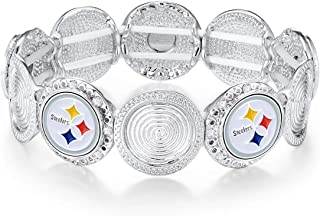 Pro Specialties Group Womens NFL Arizona Cardinals Stretch Logo Bracelet B003-1001-P