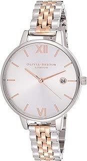 Olivia Burton Womens Quartz Watch, Analog Display and Stainless Steel Strap OB16DE06