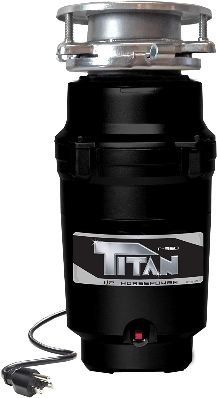 Discount mail order TITAN 10-US-TN-560-3B Garbage Disposal 1 2 - Black Excellent HP Economy