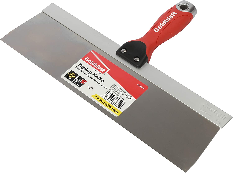 Soft Grip Handle Warner 8 ProGrip Blue Steel Drywall Taping Knife 10871