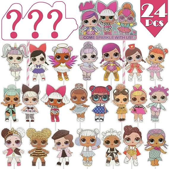 24 Pcs LOL Cupcake Toppers