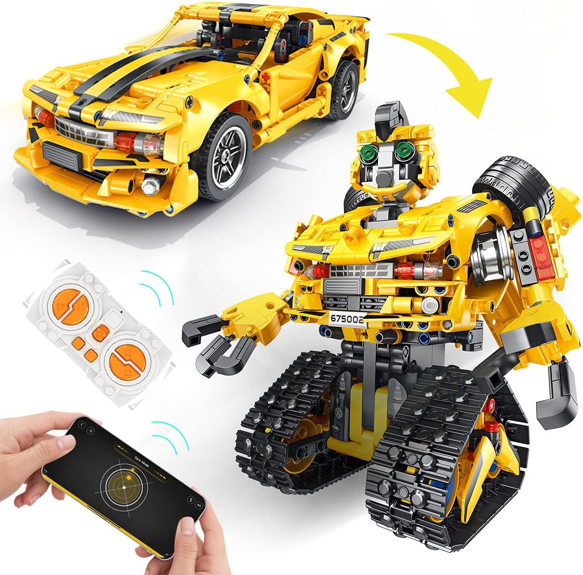 PANLOS Manufacturer OFFicial shop 2 in 1 RC Car Mail order Building Block Vehicle Programma Toys Robot