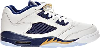 """Air 5 Retro Low (GS) """"Dunk from Above"""" Big Kid's Shoes White/Metallic Gold Star-Midnight Navy 314338-135"""