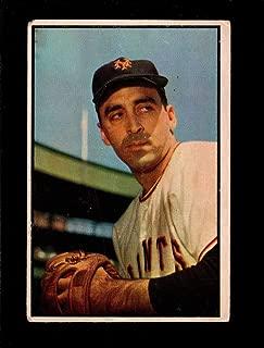 1953 Bowman Color #96 Sal Maglie NY Giants MLB Baseball Card VG Very Good