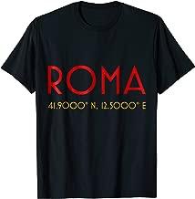 Rome Italy minimalist coordinates simple tshirt