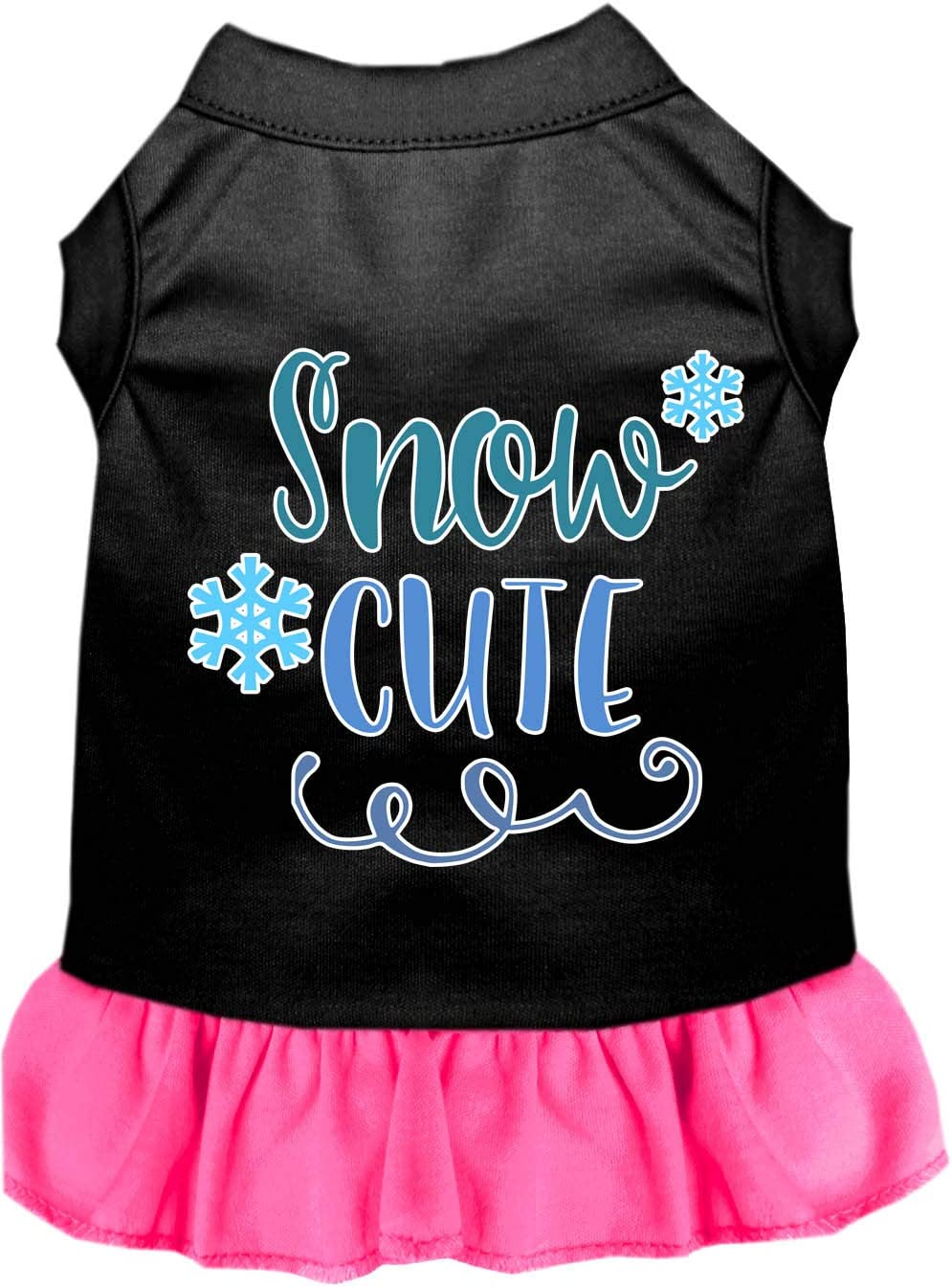 Mirage Pet Product Snow Cute Screen Dog Dress Print B Black with 67% Cheap super special price OFF of fixed price