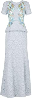BCBG Maxazria Anaya Lace Peplum Sequin Detail Gown IRG62E53-3D5