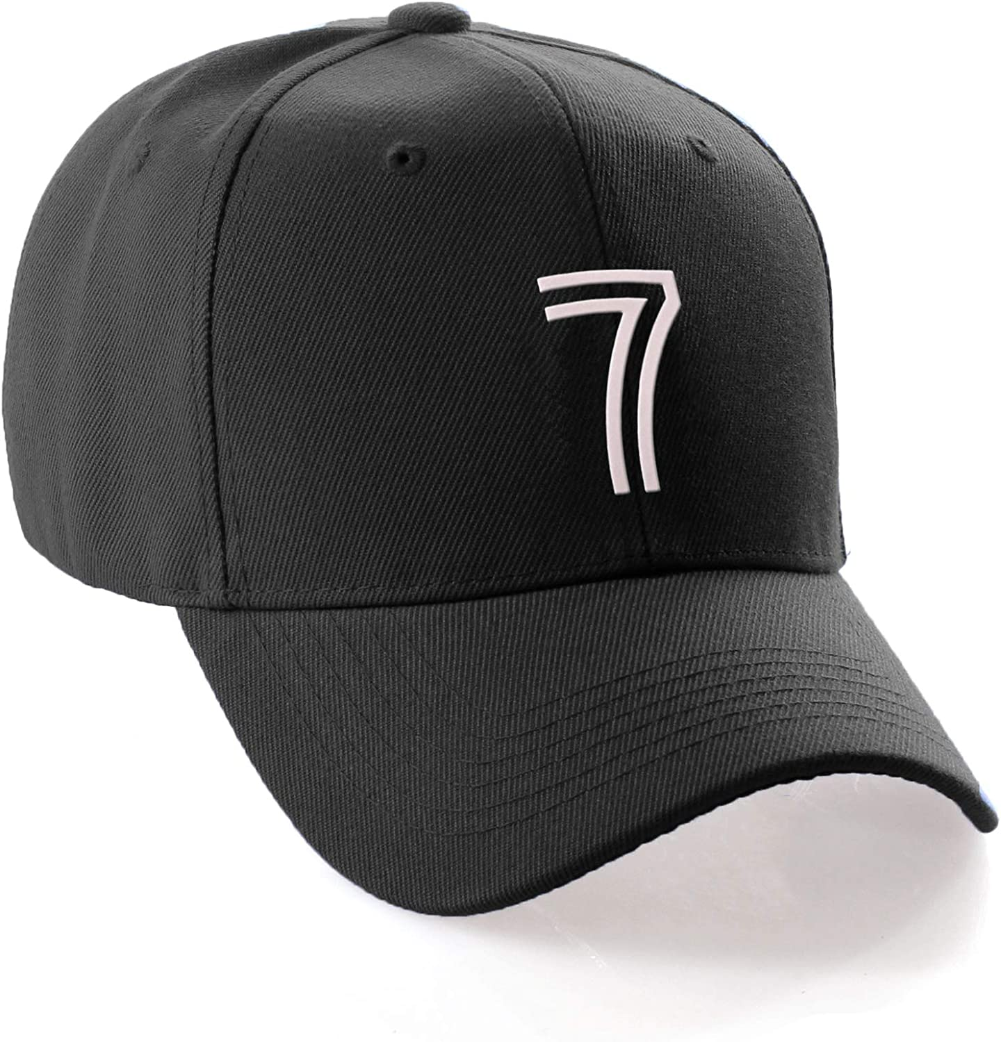 Daxton Classic Structured Baseball Hat Double Line Team Sport Numbers