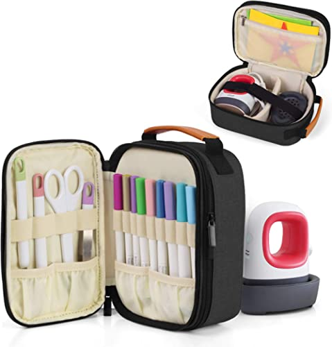 Luxja Double-Layer Carrying Case Compatible with Cricut Easy Press Mini, Tote Bag Compatible with Cricut Easy Press M...