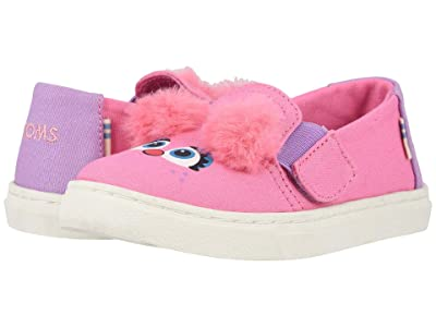 TOMS Kids Sesame Street Luca (Toddler/Little Kid) (Pink Abby Face Canvas) Girl