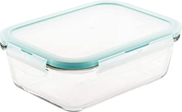 Lock & Lock Oven Glass Airtight Rectangle Container, 1.0L (LLG-445)