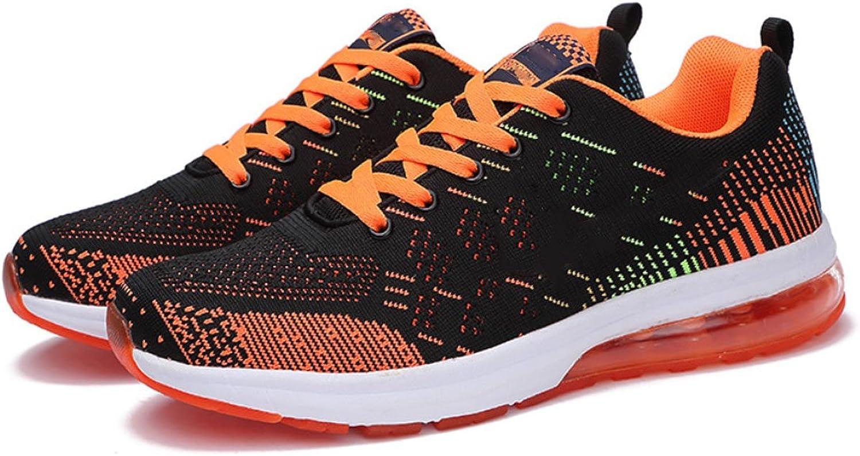 QQBL Fliegenwebnetz-Nettogarnkissen-Mann-Turnschuhe Breathable Paarlaufschuhe Junge Orange Zufllige Mnnliche Schuhe