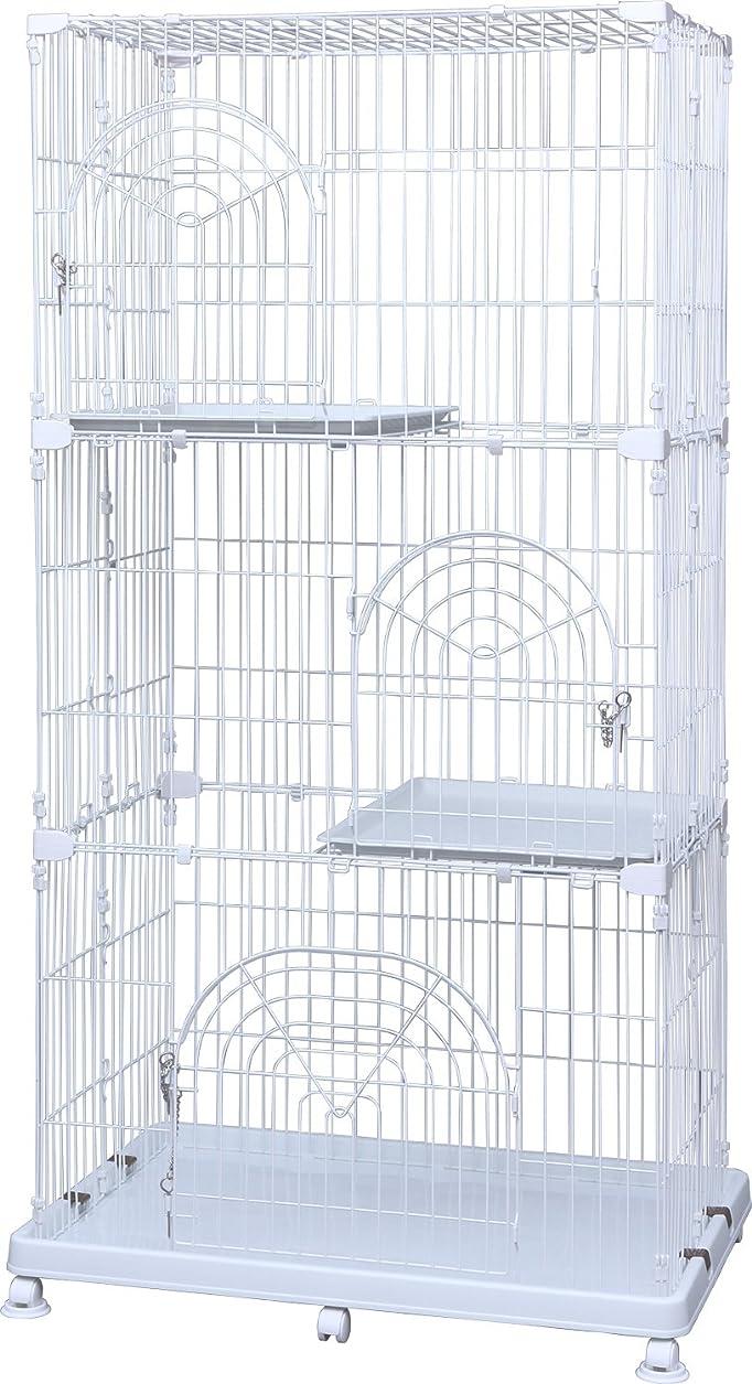 ハブブ不確実ガムアイリスオーヤマ ペットケージ 3段 ホワイト 幅93×高178cm