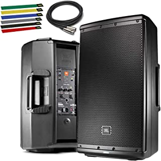 "JBL Professional EON612 Portable 12"" 2-Way Multipurpose Self-Powered Sound Reinforcement Speaker with 10ft XLR, Cable Ties"