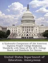 A Systematic Comparison of the American Diploma Project College Readiness Standards with those of the ACT, College Board, and Standards For Success