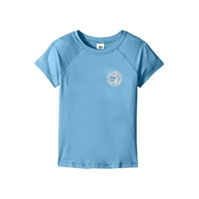 Billabong Kids Sol Searcher Short Sleeve Rashguard (Little Kids/Big Kids) (Powder Blue) Girl