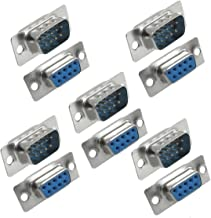 DB9 9 Pin Female to Male Solder Type Adapter Connectors 5 Pair