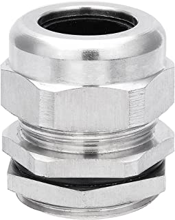 uxcell Cable Gland PG21 Stainless Steel Waterproof Cable Glands Joints Adjustable Connector for 15mm-18mm Dia Cable