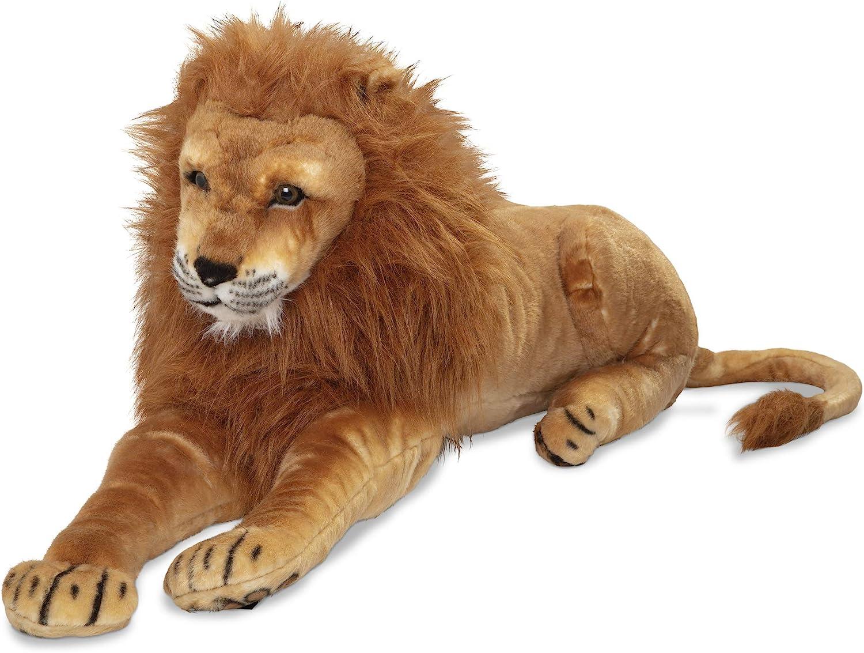 Melissa Doug Giant Lion - Lifelike Animal Many popular brands 6 feet over New Free Shipping Stuffed