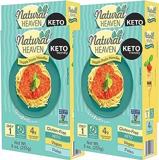 Natural Heaven Spaghetti Hearts of Palm Noodles, Low Carb, Gluten Free, Keto Friendly, Vegan, Paleo, Non Gmo, High Fiber, Plant Based, 4 Count 9 oz