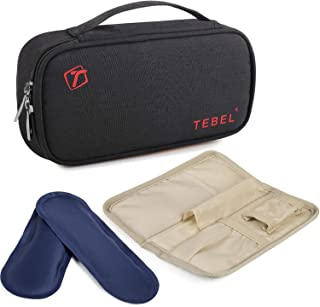 TEBEL Insulin Cooler Travel Bag with 2 Ice Pack for Diabetic Organize Medication for Hours with Carry Handel and Waist Belt(Black & Red)
