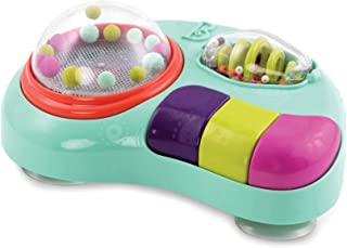 B. toys by Battat BX1464Z B. Toys Whirly Pop Lights and Music Station Baby Toy with Suction Cups, 100% Non-Toxic and BPA-f...