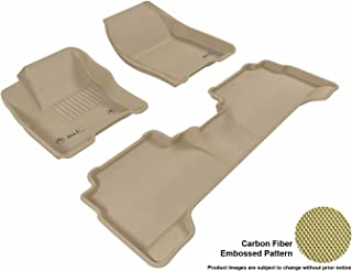 3D MAXpider Complete Set Custom Fit All-Weather Floor Mat for Select Ford C-MAX/Escape Models - Kagu Rubber (Tan)