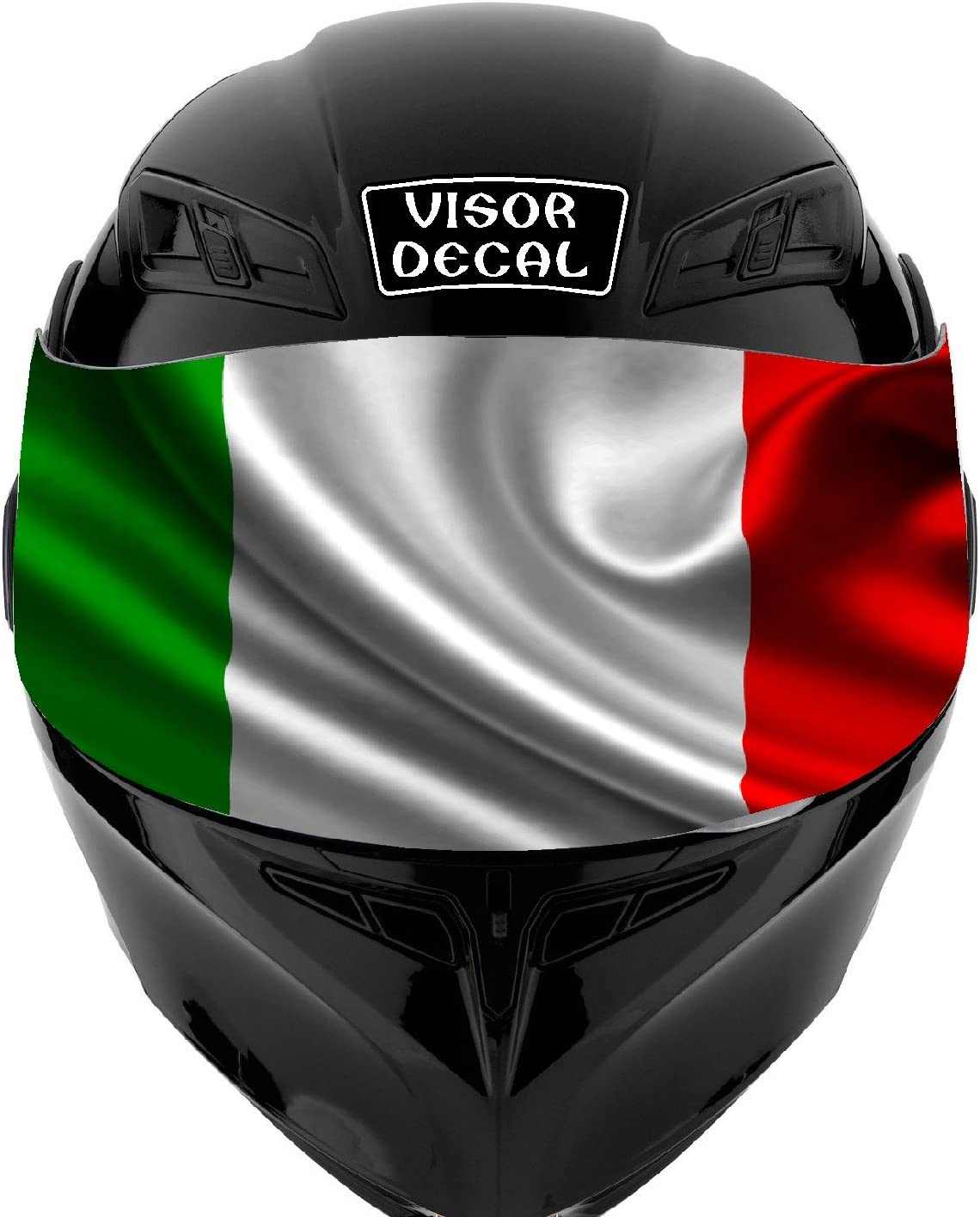 V22 Italian We OFFer at cheap prices Flag Safety and trust VISOR TINT DECAL Sticker Fits: Graphic I Helmet