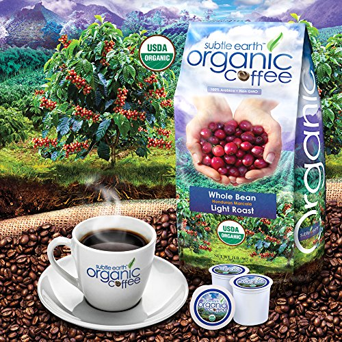 2LB Cafe Don Pablo Subtle Earth Organic Gourmet Coffee - Light Roast - Whole Bean Coffee - USDA Organic Certified Arabica Coffee by CCOF - (2 lb) Bag