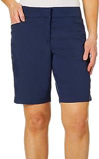 "PGA TOUR Womens PVBF7089 Women's Motionflux 19"" Tech Shorts Golf Shorts - Blue"