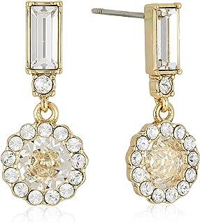 MESTIGE Women Crystal Golden Gracie Earrings with Swarovski Crystals